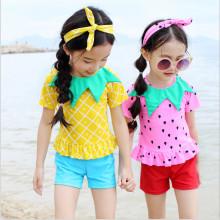One Piece Girls Fashion Colorful Swimwear