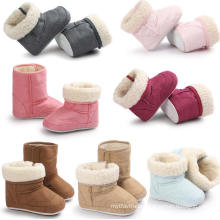 7 Color Baby Warm Boots PU Soft Sole Infant Toddler Moccasins