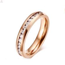 Anéis de aço inoxidável tamanho grande venda quente para mulheres