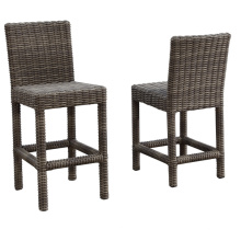Patio jardín de mimbre de la rota al aire libre de muebles de Bar taburete silla