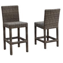 Patio Rattan Wicker Garden Outdoor Furniture Bar Stool Chair