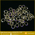 Hot Selling Types Nose Piercing Jewelry Synthetic Opal Nose Hoop Rings