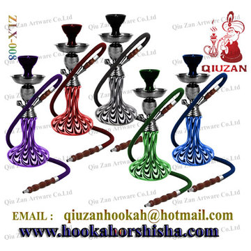 Medium Hookah With Peacock tail pattern Vase