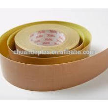 Good Quality Heat Resistance And Mechanical Strength Teflon Coated Fiberglass Premium With Silione Adhesive And Yellow Liner