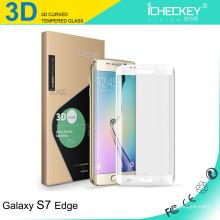 Preço de fábrica 3D São Borda Forte cola protetor de tela Galvanoplastia Gorilla Glass para Samsung S7 borda
