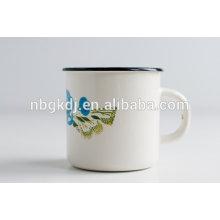 China nuevos productos al por mayor 8-10 cm taza de té de acero del campo del esmalte