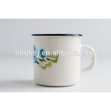 china new products wholesale 8-10cm steel enamel camp tea mug