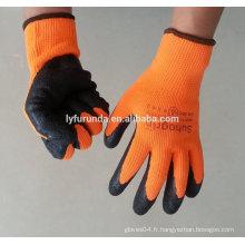 Gants acryliques en latex noir pour gants de travail d'hiver