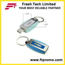 Metal Keyring USB Flash Drive com logotipo (D307)