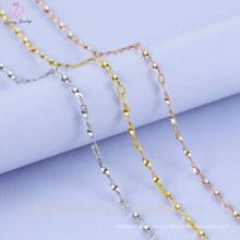 Twisted Piece Silver Chain Sterling Silver Design para niña
