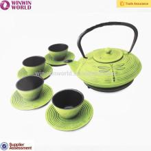 Welcomed Design Cast Iron Teapot Metal Tea Pot 800ML,Custom Logo White/Black Logo