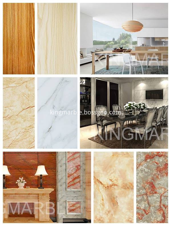 Cheaper&lighter than marble, bigger than ceramics, No bubble, No shedding, Smooth Surface.6
