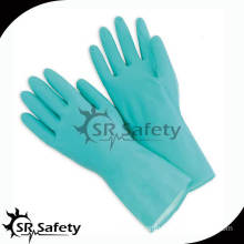 SRSAFETY industrial anti oil and anti chemical gloves/nitrile household glove