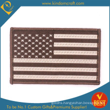 Hot Selling OEM Factory Garment Accessories Custom National Flag Embroidery Badge Patch at Factory Price