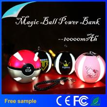 10000mAh Bateria Li-Polímero Magic Ball LED Lighting Power Bank Charger