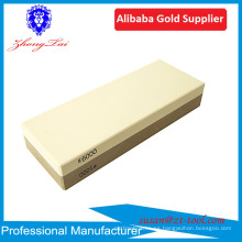 afiladores de cuchillo de la piedra de afilar de la venta caliente con el sostenedor antideslizante de la base de bambú