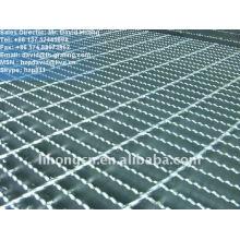Grade de metal serrilhado galvanizado