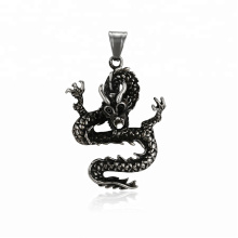 33541 xuping fashion black gun couleur cool design personnalisé pendentif dragon animal chanceux