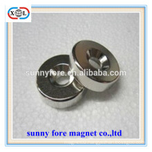 round nickel cadmium magnets with countersunk hole