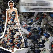 Tissu de soie imprimé numérique italien pour écharpe ou vêtement