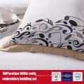 100% coton 300TC broderie hôtel ensemble de literie Hotel Linen