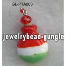 Italy flag shape lampwork perfume bottle
