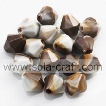 Couleurs mélangées solides en vrac Perles Spacer bijoux acrylique