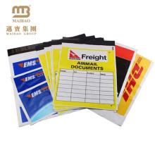 100% new virgin material custom logo printed degradable plastic packing list envelopes