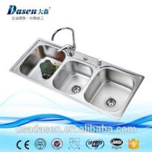 kleine weiße Küche nexstyle Design Dienstprogramm 3 Fach Bar Waschbecken