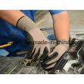 Серый нейлон трикотажные Рабочая перчатка с песком нитрила покрытием (N1558)