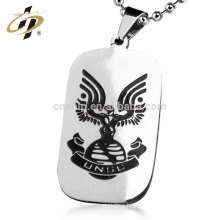 Custom cheap silver military metal soft enamel logo dog tags