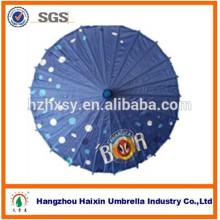 Guarda-chuva de papel oleado de bambu com alça de bambu