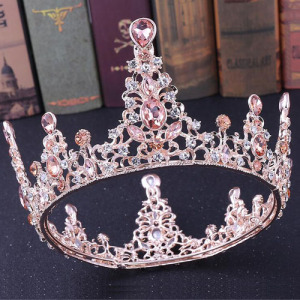 Pink Diamond Pageant Queen Crowns--Small Size
