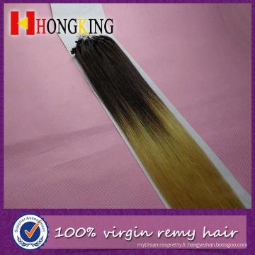 Extension de cheveux pourpre micro perles