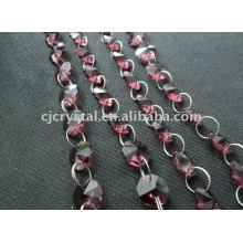 India Crystal Strings Beads,octagonal crystal beads