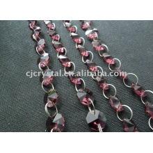 India Crystal Strings Contas, contas de cristal octagonal