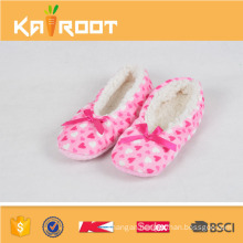 OEM woman knitted fabric TPR dance shoes and terry ballet slippers