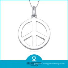 Collier de bijoux en argent sterling 925 en forme de paix (SH-J0135)
