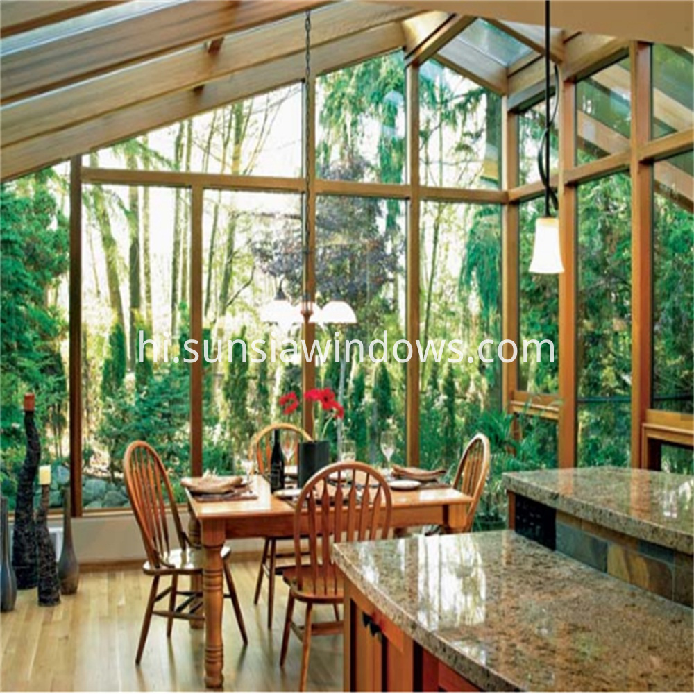 Customized Sun Room Winter Garden Glass House With Insulated Glass