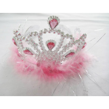 Pink Feather PP Diamond Tiara