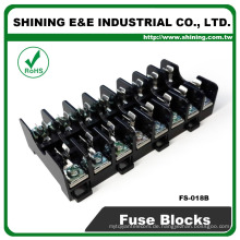FS-018B 35mm Din Rail montiert 600V 10A 8 Pole Midget Sicherung Basis