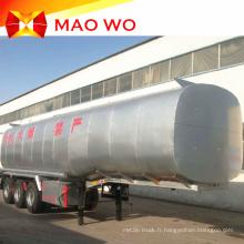 Nouvelle remorque de réservoir de carburant de 50000 litres d'acier au carbone