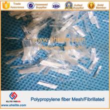 4mm 6mm 8mm 12mm 16mm 19mm 13mm 20mm PP Polypropylene Mesh/Fibrillated Concrete/Cement Fibre Fiber