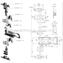 Truck van body lock,assembly door lock