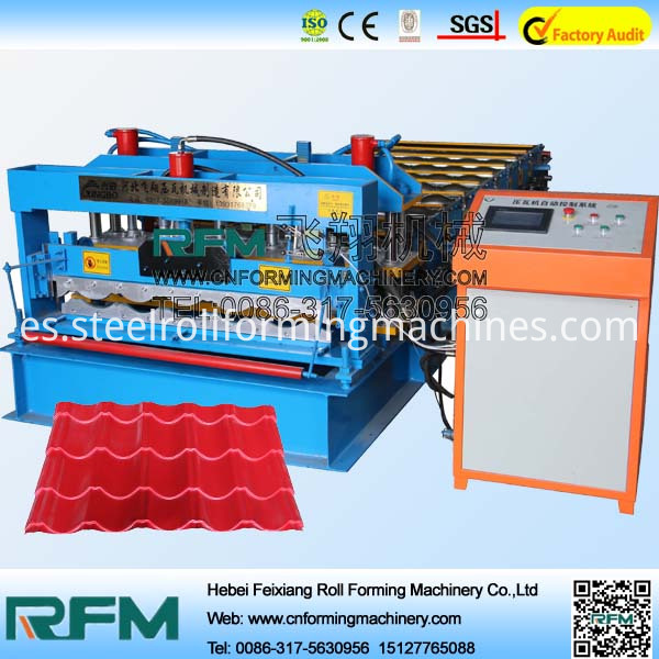automatic roofing machine of glazed tile panel machine