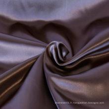 Tissu satin poli en satin de polyester