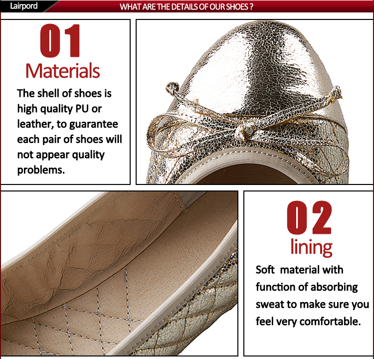 silver flat ladies shoes