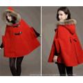 Winter Fashion Loose Bat Sleeve Women′s Cape Coat (50031)
