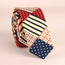 Идеальный узел шеи мужчины пользовательские печать хлопок отношений США флаг