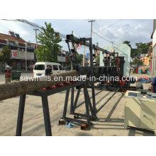 Serrote de fita de madeira Serra de fita vertical dupla de madeira com transporte